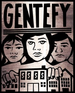 """Gentefy"" - social commentary that is meant to encourage our communities to reclaim our voices and experiences as a vital source of knowledge: ""Gentefy con tus carnicerias. Gentefy con tu cultura. Gentefy con tu lenguage. Gentefy con tu presencia. [Gentefy tu Cristo]"" Artist: Julio Salgado"