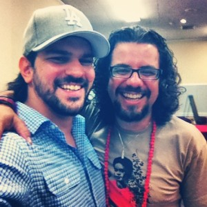 student Eugene Lopez with Dr. Claudio Carvalhaes